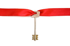 House keys with red ribbon Stock Image