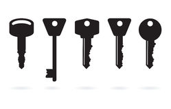 House keys. A set of abstract house keys Stock Photography
