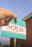 House Keys and Sold Sign Royalty Free Stock Image