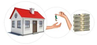 House with keys Stock Photo