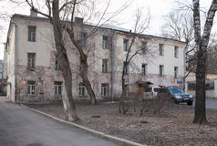 House in Khitrovskaya Street in Moscow Stock Photo