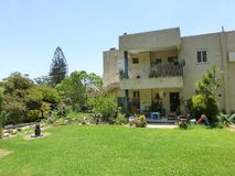 House at Kibbutz Ein Gedi at the Dead Sea royalty free stock photography
