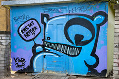 The house with Kiwie graffiti. Royalty Free Stock Photography