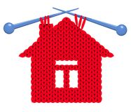 The house knitted Royalty Free Stock Images