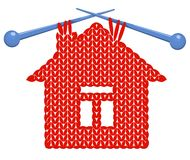 The house knitted on spokes Royalty Free Stock Image