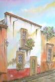 house kolonialny meksykanina Zdjęcie Stock