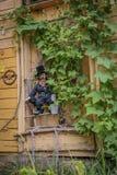 House in Kuldiga, Latvia stock image