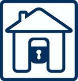 house låssilhouetten Royaltyfri Foto