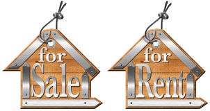 House labels For Sale and For Rent Royalty Free Stock Photography