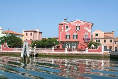 House of lagoon of venice. Lagoon of Venice - Italy stock photo