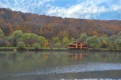 House on the lake Stock Photos
