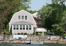 House on a Lake Royalty Free Stock Photography