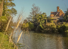 House in a Lake Royalty Free Stock Photography