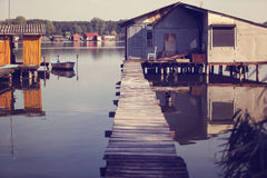 House on lake Royalty Free Stock Photo