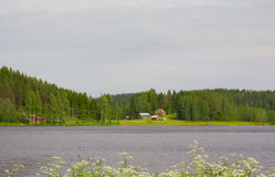 House on the lake, Finland Royalty Free Stock Photography