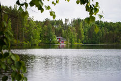 House at the lake. Stock Photography