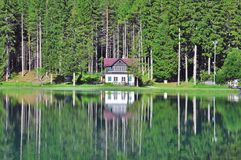 House at the lake Stock Photography