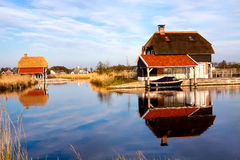 House in the lake Stock Photography
