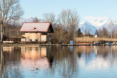 House On The Lake Stock Photography
