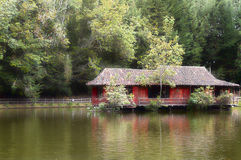 House in a lake. Picture o a house in a lake stock images