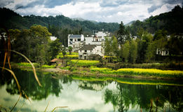 The house is in the lake reflection Royalty Free Stock Images