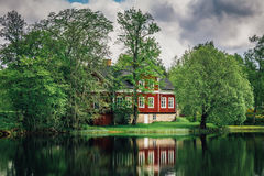 House by the lake Royalty Free Stock Photo