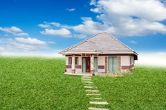 House in land Royalty Free Stock Images