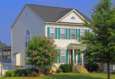House with Landscaping Royalty Free Stock Image