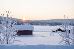 House in Lapland Stock Photography