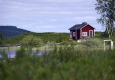House in Lappland Royalty Free Stock Images