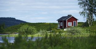 House in Lappland Stock Photo