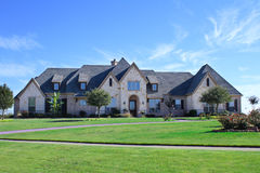 House 1. A large house in North Dallas Royalty Free Stock Image