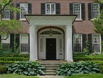 Large portico. House with large portico style porch royalty free stock image