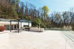 House, large tarrace, outdoor Royalty Free Stock Photos