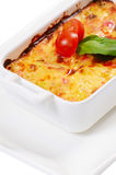 House lasagna with vegetables and mushrooms Stock Image