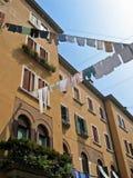 House and laundry. At Venice Italy royalty free stock photos