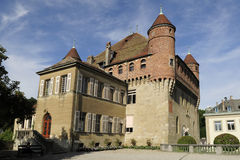 House in Lausanne. An old building with nice architecture in Lausanne royalty free stock photo