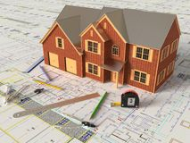 House Layout And Architectural Drawings Royalty Free Stock Images