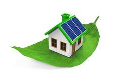 House on Leaf Isolated Stock Image