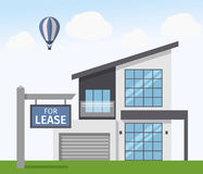 House for Lease sign. Vector illustration in flat style. Royalty Free Stock Images