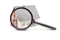 House with lens royalty free stock photography