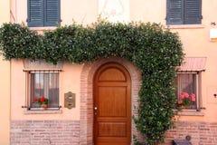House with liana on wall Rimini Royalty Free Stock Photo