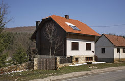 House in Licko Petrovo Selo. Croatia Royalty Free Stock Photography