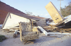 House lies in ruins after Hurricane Andrew Stock Photo