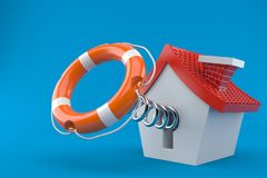 House with life buoy Royalty Free Stock Photography