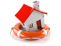 House with life buoy Royalty Free Stock Images