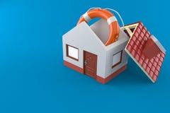 House with life buoy Royalty Free Stock Photo