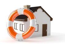 House with life buoy Stock Photos