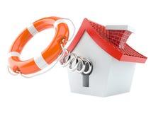 House with life buoy Stock Photo