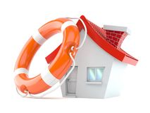 House with life buoy Stock Images